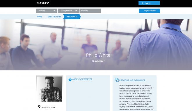'Industry Certified Expert' title awarded by Sony Pro Europe